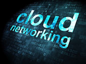 Cloud computing concept: Cloud Networking on digital background — 图库照片
