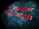 Education concept: Computer Education on digital background — Stock Photo