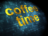 Timeline concept: Coffee Time on digital background — Stockfoto