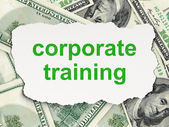 Education concept: Corporate Training on Money background — Stock Photo