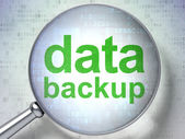 Data concept: Data Backup with optical glass — Stock Photo