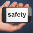 Privacy concept: Safety on smartphone — Foto de Stock