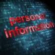 Security concept: Personal Information on digital background — Foto Stock