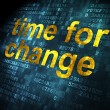Timeline concept: Time for Change on digital background — Stockfoto #29528603
