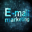 Marketing concept: E-mail on digital background — Stok fotoğraf