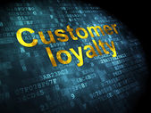 Marketing concept: Customer Loyalty on digital background — Stock Photo