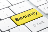 Privacy concept: Security on computer keyboard background — Stockfoto