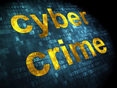 Safety concept: Cyber Crime on digital background — Stock Photo