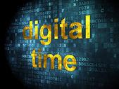 Timeline concept: Digital Time on digital background — Stock Photo