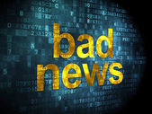 News concept: Bad News on digital background — Stock Photo