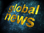 News concept: Global News on digital background — Stock Photo