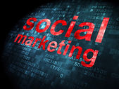 Advertising concept: Social Marketing on digital background — Stock Photo