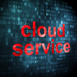 Cloud computing concept: Cloud Service on digital background — Zdjęcie stockowe #29530327