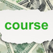 Education concept: Course on Money background — ストック写真