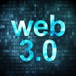 SEO web development concept: Web 3.0 on digital background — Zdjęcie stockowe #29530881