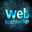 SEO web development concept: Web Technology on digital backgroun — Zdjęcie stockowe #29534599
