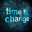 Stock Photo: Timeline concept: Time to Change on digital background