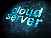 Cloud technology concept: Cloud Server on digital background — Stock Photo