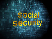 Security concept: Social Security on digital background — Stock Photo