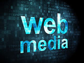 SEO web development concept: Web Media on digital background — Stockfoto