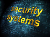 Protection concept: Security Systems on digital background — Stock Photo