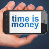 Timeline concept: Time is Money on smartphone — Stock Photo