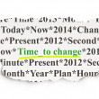 Stock Photo: Timeline concept: Time to Change on Paper background