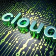 Cloud technology concept: Cloud on circuit board background — Stock Photo