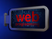 Web development concept: Web Programming on billboard background — Stock Photo