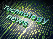 News concept: Technology News on circuit board background — Stock Photo