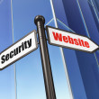 Privacy concept: Website Security on Building background — 图库照片