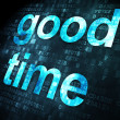 Timeline concept: Good Time on digital background — Stock Photo