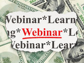 Education concept: Webinar on Money background — Stock fotografie