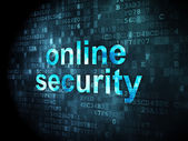 Privacy concept: Online Security on digital background — Stock Photo