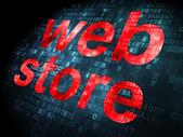 SEO web development concept: Web Store on digital background — Foto de Stock