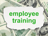 Education concept: Employee Training on Money background — Foto de Stock