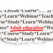 Stock Photo: Education concept: Adult Education on Paper background