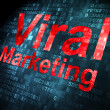Stock Photo: Advertising concept: Viral Marketing on digital background