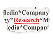 Advertising concept: Research on Paper background — Stock Photo