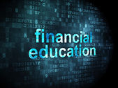 Education concept: Financial Education on digital background — Stock Photo