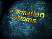 Information concept: Information Systems on digital background — Stock Photo