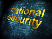 Safety concept: National Security on digital background — Stock Photo