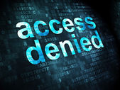 Safety concept: Access Denied on digital background — Stock Photo
