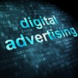 Marketing concept: Digital Advertising on digital background — Stock Photo