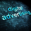 Marketing concept: Digital Advertising on digital background — Stock Photo #29594127