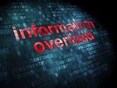 Information concept: Information Overload on digital background — Stock Photo