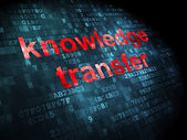 Education concept: Knowledge Transfer on digital background — Stock Photo