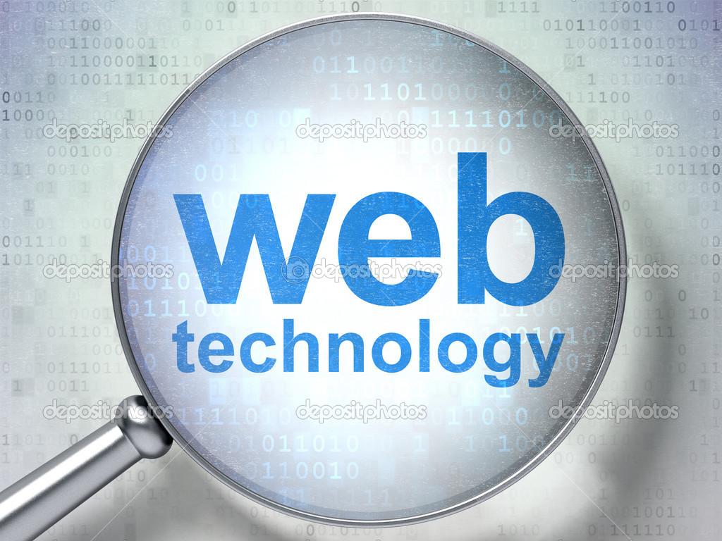 SEO web development concept: Web Technology with optical ...