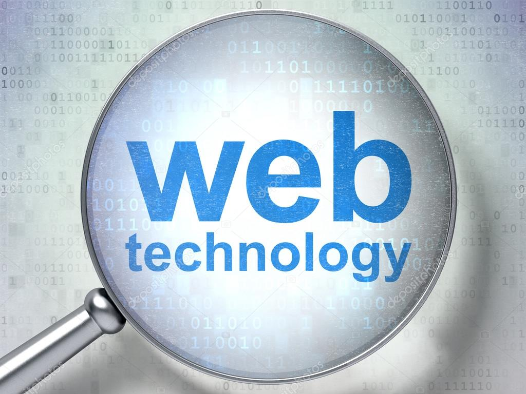 SEO web development concept: Web Technology with optical ...