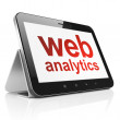 Web development concept: Web Analytics on tablet pc computer — Stock Photo